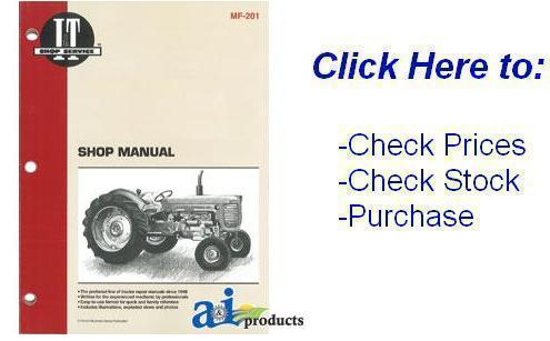 Massey Ferguson 165 Shop Manual Service Manual Parts Manual