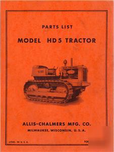 Allis Chalmers Parts Manuals